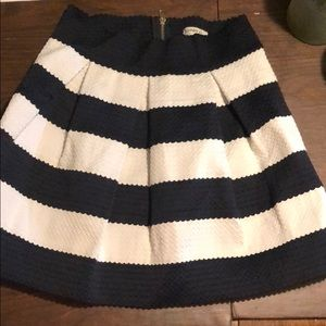 Navy blue and white nautical skirt ⚓️